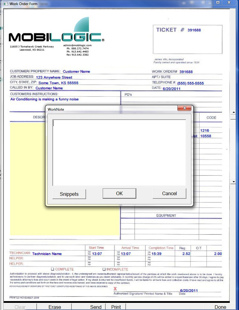 Examples of Forms - Mobilogic